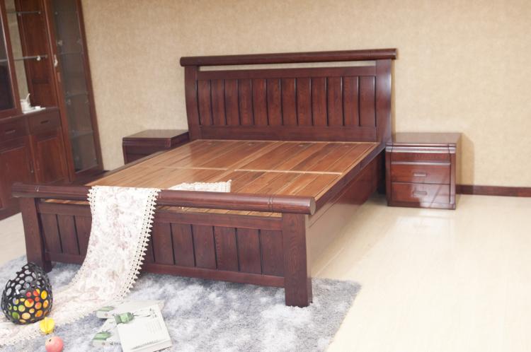 高档实木床608-8