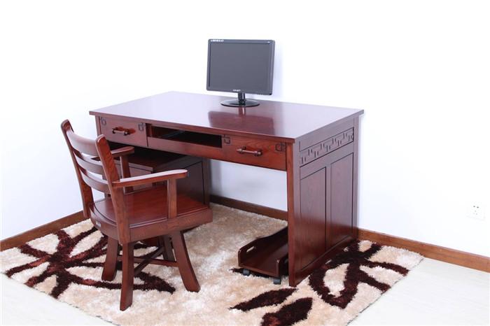 实木家具|实木电脑桌|木言木语|黄菠萝