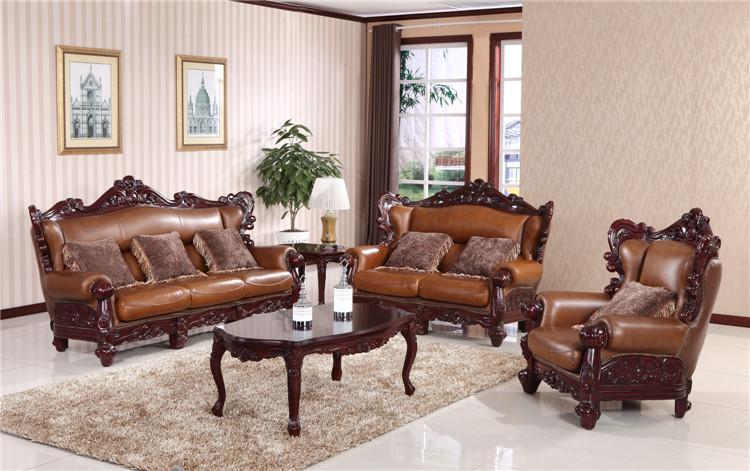 实木沙发是专门利用实木制造,面对这种原生质的沙发,大多数的人会觉得这种实木沙发更有田园风格的味道。其实不仅仅是这样,高档的实木沙发一样可以打造得很豪华尊贵,给人以一种舒适尊贵感,让人很容易被他的高贵所感染,总是让人魂牵梦萦。 高档实木沙发精美图集一:     实木沙发不仅仅看起来是原生质的,它可以根据各种不同的制作工艺,将实木沙发加工成各种不同样式的高档实木沙发。如图中的这款实木沙发,它是一种尊贵华丽的体现,它被赋予了一种更加有定力的一种东西,这种实木沙发更加高档,更加有特色,它没有太鲜艳的色彩吸引眼球,