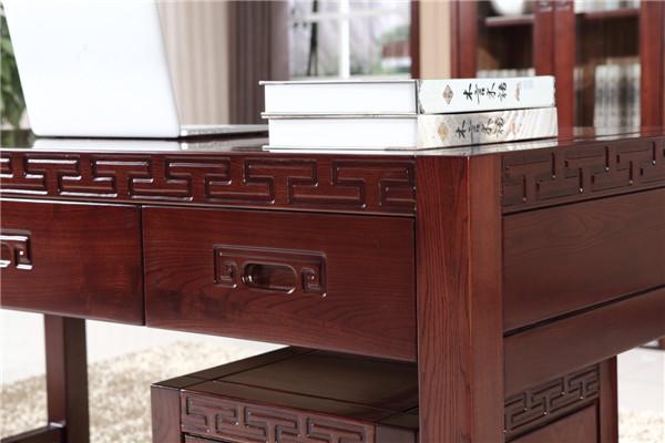 新环保实木电脑桌665#-6